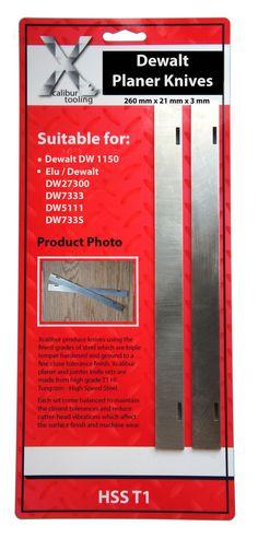 Dewalt DW1150 Slotted HSS Planer Blades WM1044