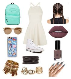 """""""Skater girl"""" by rinabelle ❤ liked on Polyvore featuring Topshop, Converse, Vans, Yves Saint Laurent, Zero Gravity, Isabel Marant, Lime Crime and Bobbi Brown Cosmetics"""