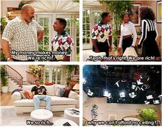 Fresh Prince of Bel-Air breaking the fourth wall like a boss.