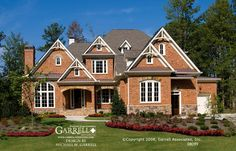 Garrell Associates, Inc.Graystone Cottage House Plan 08099, Front Elevation, French Style House Plans, Traditional Style House Plans, Design by Michael W. Garrell