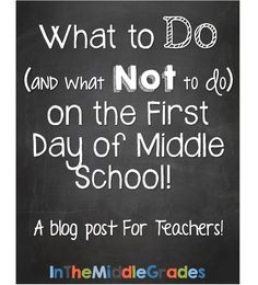 What to Do (And What Not to Do) on the First Day of Middle School