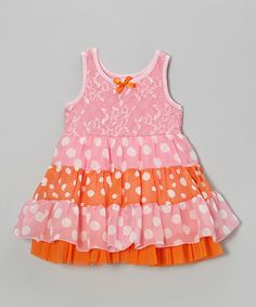 Take a look at this Punch Tiered Polka Dot Skirted Bodysuit - Infant & Toddler by Lipstik Girls on #zulily today!