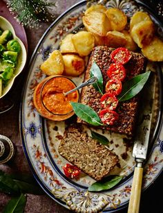 Brazil nut & chestnut roast with smoky chipotle-chilli sauce (gluten-free) - Sainsbury's Magazine