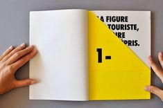 Pre-folded page within a book - PPT design inspiration