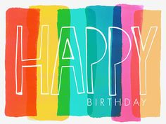Margaret Berg Art: Happy+Birthday+Stripes