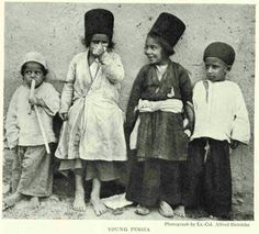 Iran, children in the late Qajar period.