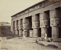 Dendera - the Western Portico [Temple of Hathor, Dendara] | Royal Collection Trust