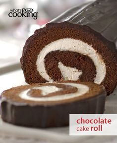 Nothing tops a great chocolate cake roll. Just bake, cool, spread and then roll your way to an unforgettable dessert. Tap or click for this Chocolate Cake Roll #recipe.