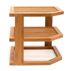 9.5 In. X 10 In. X 10 In. Bamboo 3-tier Corner Shelf