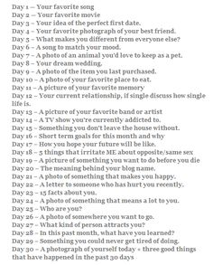 Thirty Day All About You Challenge