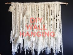 gorgeous diy wall hanging