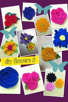 DIY flowers :) made of felt :)