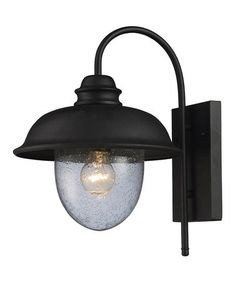 Another great find on #zulily! Matte Black Streetside Café Outdoor Sconce #zulilyfinds