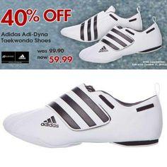 Get them before they're gone! 40% off Adidas Adi-Dyna #Taekwondo Shoes. http://www.bushido.ca/footwear/taekwondo-shoes/adidas-adi-dyna-shoes #tkd #taekwondo #adidas #shoes #mma #martialarts #sale #shopnow