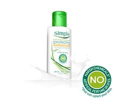 Simple Skincare Protecting Light Moisturizer with SPF 15 moisturizes and helps protect skin from UVA and UVB rays.