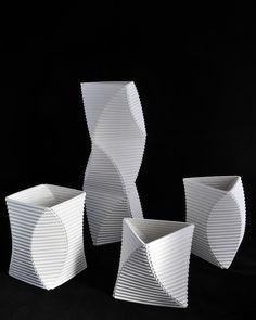 Corrugated Vessel, Paper Porcelain - Keith Varney.