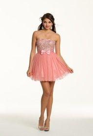 Short Tulle Strapless Dress