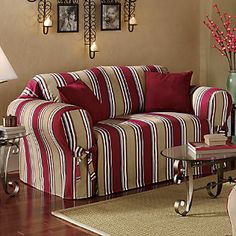 Classic Stripe Slipcovers Collection from Through the Country Door®   I probably need these