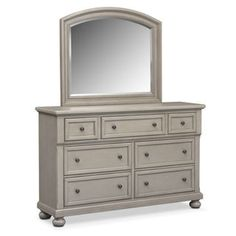 Hanover Dresser and Mirror - Gray
