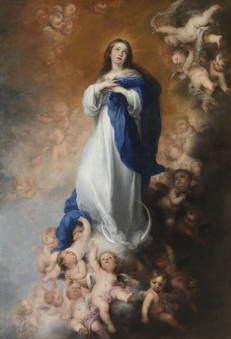 """""""Immaculate Conception of the Escorial"""" Picture by Bartolome Esteban Murillo posters, art prints, canvas prints, greeting cards or gallery prints. Find more Picture art prints and posters in the AR. Catholic Art, Religious Art, Catholic Churches, Catholic Prayers, Religious Icons, Roman Catholic, Hail Mary, Madonna, Immaculée Conception"""
