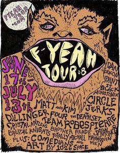 f-yeah tour poster