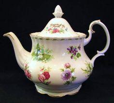 Royal Albert Tea Pot Flowers Of The Month Series 1984
