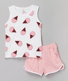 Look what I found on #zulily! Pink Ice Cream Tank & Pink Shorts by Leighton Alexander #zulilyfinds