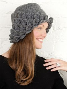 One of the eight patterns found in Crocodile Stitch Fashions, such a pretty hat!