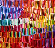 Australian aboriginal art by Raelene Stevens.
