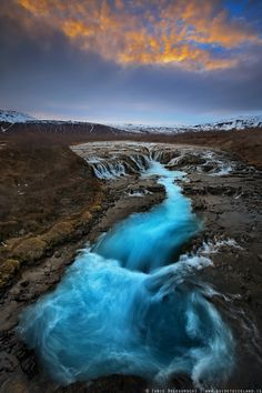 Bruarfoss, a waterfall on the Bruara River, Iceland | Top 10 Most Beautiful Waterfalls in Iceland