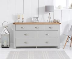 Buy The Somerset Oak And Grey 3 Over 4 Drawer Chest At Furniture Superstore
