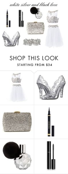"""white silver and black"" by camilla-sjoeberg on Polyvore featuring Dolce&Gabbana, Lulu*s and Chanel"