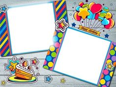 Happy Birthday Frame, Birthday Frames, Birthday Photo Frame, Birthday Photos, Photomontage, School Frame, Page Borders, Montage Photo, Picture Frames