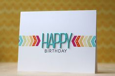Happy Birthday Card by Laura Bassen for Papertrey Ink (January 2014)