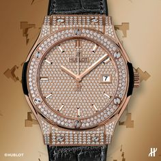 A touch of modern sophistication, the Hublot Classic Fusion King Gold Full Pavé. See more watches from Hublot at Deutsch & Deutsch Laredo.