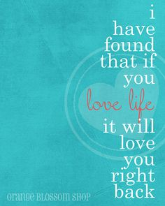 Love Life digital Print 8x10. $12.00, via Etsy.