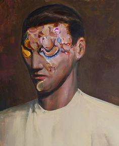 """Saatchi Art Artist Daniel Maczynski; Painting, """"portrait with yellow eye"""" #art"""