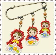 Beaded dall charms