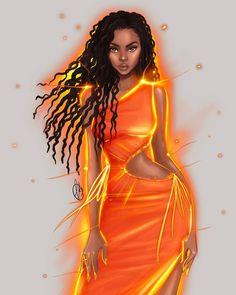 Black Girl Art, Black Girl Magic, Art Girl, Fashion Model Sketch, Fashion Sketches, Fashion Art, Fashion Models, Moda Aesthetic, Fashion Design For Kids