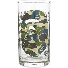 A Bathing Ape Camouflage glass ($38) ❤ liked on Polyvore featuring home, home decor, a bathing ape, green home decor and glass home decor