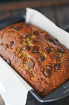 Peanut Butter Chocolate Chip Banana Bread by Fork Vs. Spoon. Peanut butter chocolate chip banana bread