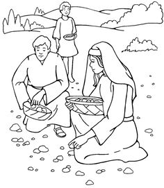Moses Manna and Quail Coloring Page