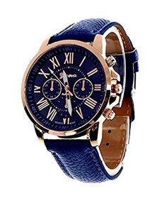 Geneva Platinum Analog Blue Dial Womens Watch  GP-083 @ Rs.306
