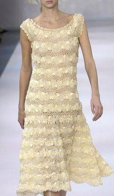 Crochê Tricô - Gráficos: Gráfico de Vestido em Crochê de Grampo
