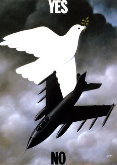 Rafael Olbinski. Surrealism. I love the yes to peace no to war message in this simple but strong image