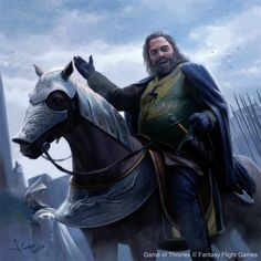 Robert Baratheon comes to Winterfell, Joshua Cairos on ArtStation at https://www.artstation.com/artwork/Na1Zq