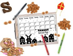 Sinterklaas aftelkalender 2018 Childrens Holidays, Winter Time, School Projects, Kids And Parenting, Advent Calendar, Free Printables, Christmas Cards, December, Presents