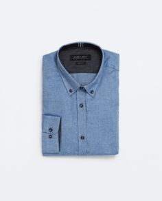 Imagine 8 din CĂMAŞĂ DIN FLANELĂ de pe Zara Denim Button Up, Button Up Shirts, Zara, Mens Tops, T Shirt, Style, Fashion, Supreme T Shirt, Swag