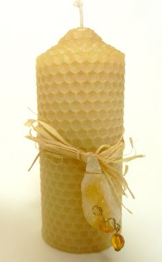 Beeswax Pillar with Citrine by adalaywest on Etsy, $7.00