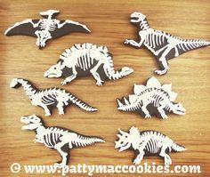 Dinosaur Cookies for Jasper's 21st!  Roar!
